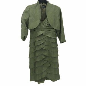 Adrianna Papell Occasions Womens Dress Green Sz 6